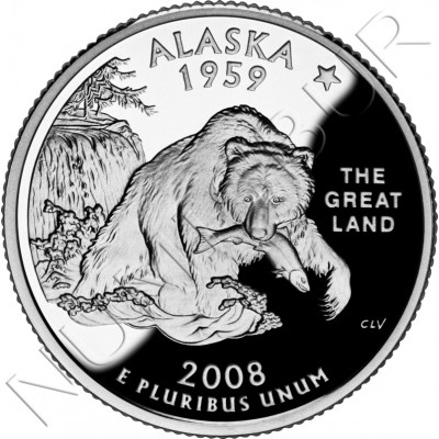 0.25$ EEUU 2008 - #49 Alaska