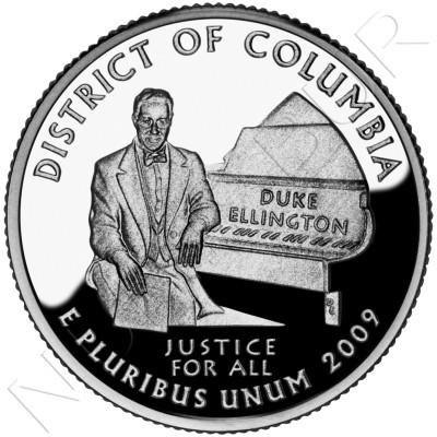 0.25$ EEUU 2009 - Distrito de Columbia
