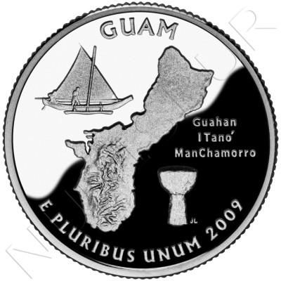 0.25$ EEUU 2009 - Guam