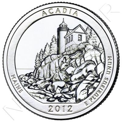 0.25$ EEUU 2012 - Acadia