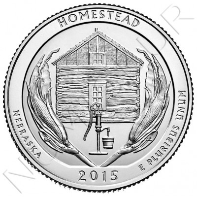 0.25$ EEUU 2015 - Homestead