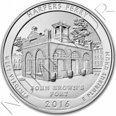 0.25$ EEUU 2016 - West virginia