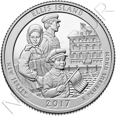 0.25$ USA 2017 - Ellis Island
