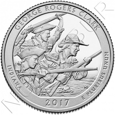 0.25$ USA 2017 - George Rogers Clark Indiana