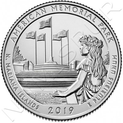 0.25$ USA 2019 - N. Mariana Islands