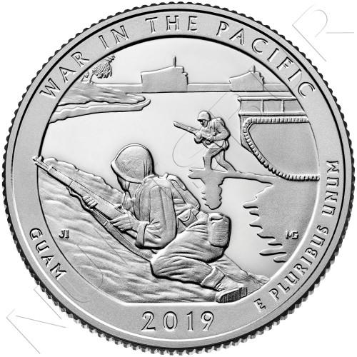 0.25$ EEUU 2019 - Guam
