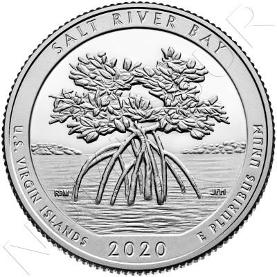 0.25$ USA 2020 - U.S Virgin Islands