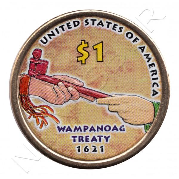 1$ EEUU 2011 - Pipa de la paz (COLOR)