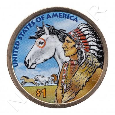 1$ EEUU 2012 - Rutas del comercio XVII (COLOR)