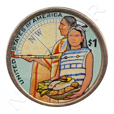 1$ EEUU 2014 - Expedición de Lewis y Clark (COLOR)