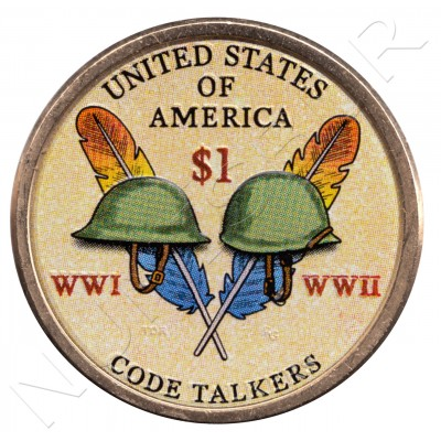 1$ EEUU 2016 - Code Talkers (COLOR)
