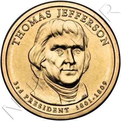 1$ EEUU 2007 - 3º Thomas Jefferson