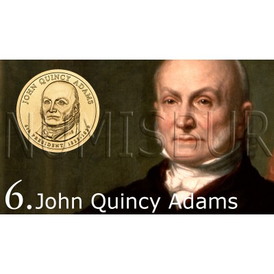 1$ EEUU 2008 - 6º John Quincy Adams