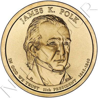 1$ EEUU 2009 - 11º James K. Polk