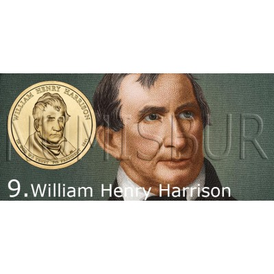 1$ EEUU 2009 - 9º William Henry Harrison