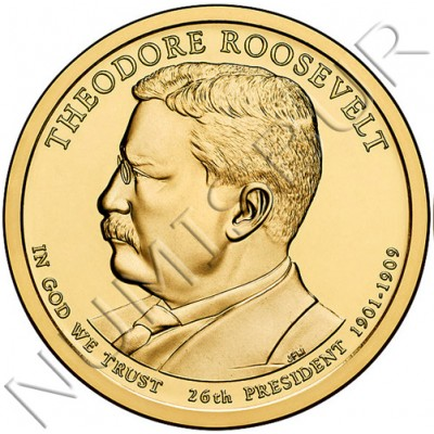 1$ USA 2013 - 26th Theodore Roosevelt