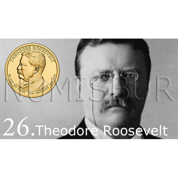 1$ EEUU 2013 - 26º Theodore Roosevelt