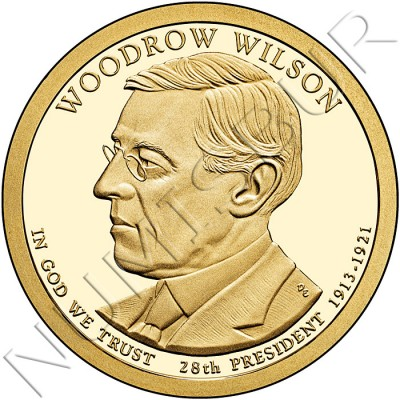 1$ USA 2013 - 28th Woodrow Wilson