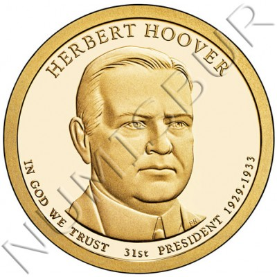 1$ USA 2014 - 31th Herbert Hoover