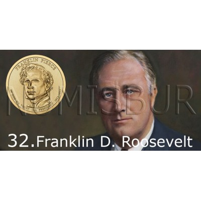1$ USA 2014 - 32th Franklin D. Roosevelt