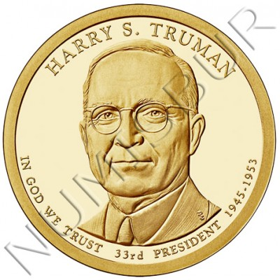 1$ USA 2015 - 34th Harry S. Truman