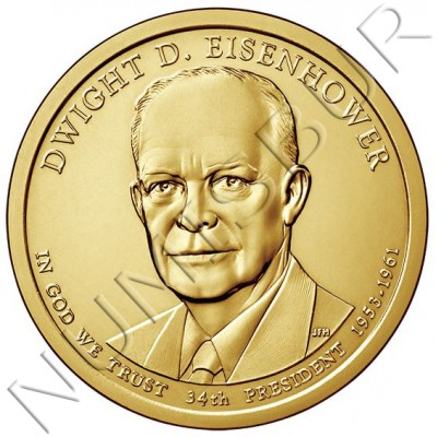 1$ USA 2015 - 34th Dwight D. Eisenhower