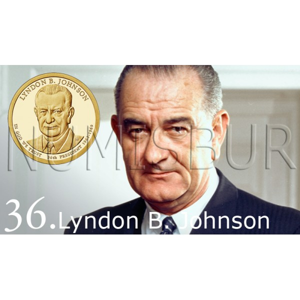 1$ EEUU 2015 - 36º Lyndon B. Johnson