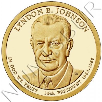 1$ USA 2015 - 36th Lyndon B. Johnson