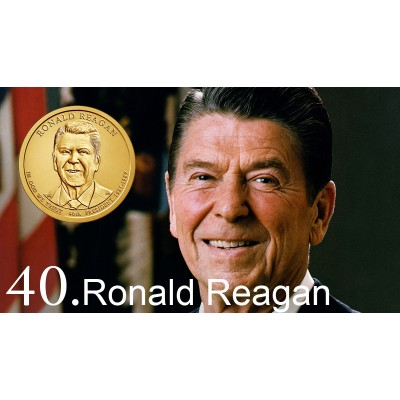 1$ USA 2016 - 38th Ronald Reagan