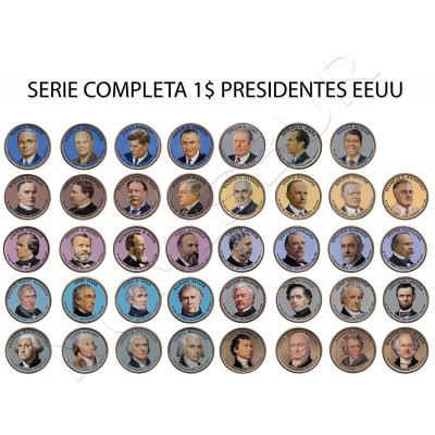Serie 1$ USA 2016 - 2007 | Presidents (COLORED)