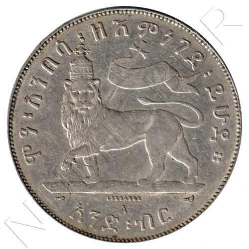 1 birr ETHIOPIA 1887 -  Menelik II (1894 A)