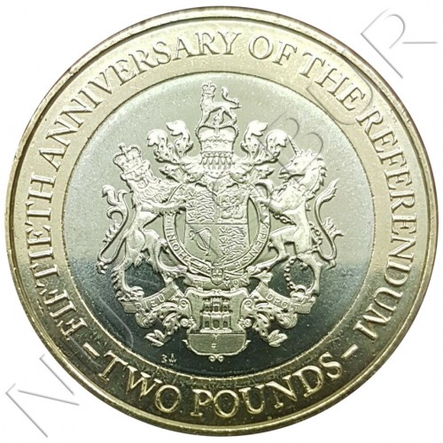 2£ GIBRALTAR 2017 - 1967 Referendum Anniversary
