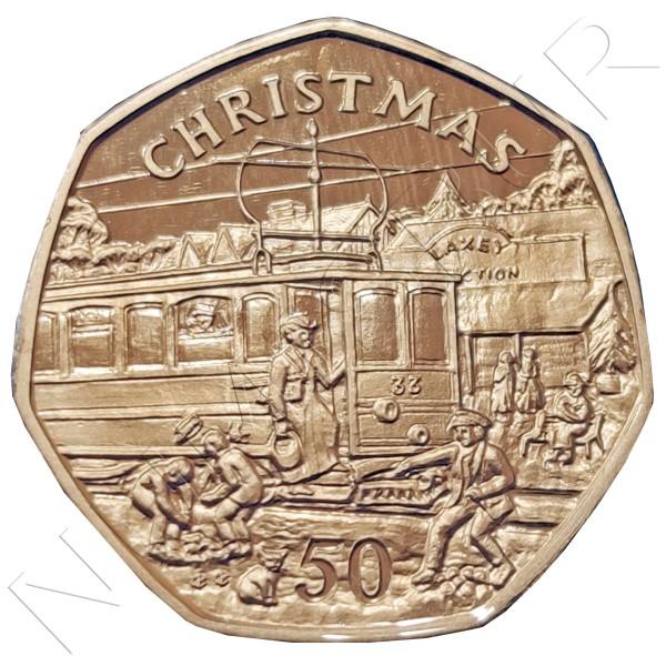 50 pence ISLE OF MAN 1989 - Christmas
