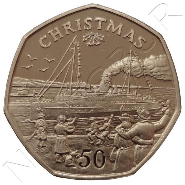 50 pence ISLE OF MAN 1990 - Christmas