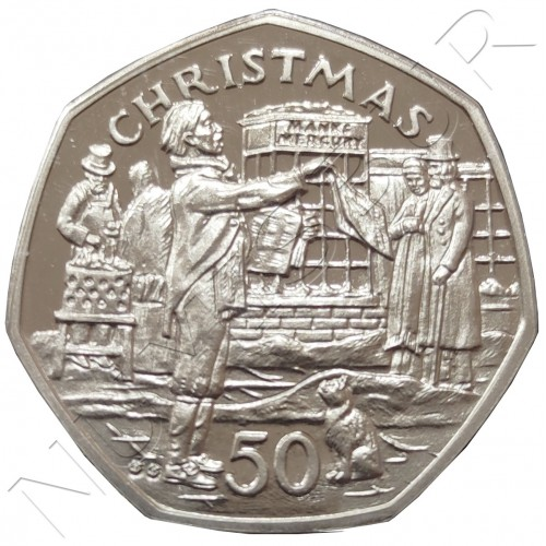 50 pence ISLE OF MAN 1992 - Christmas