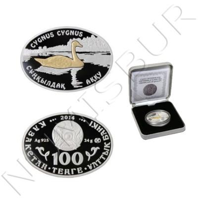 100 tenge KAZAJISTAN 2014 - Cygnus Cygnus