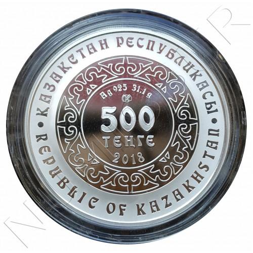 500 tenge KAZAJISTAN 2018 - Kokbori (Blue wolf)