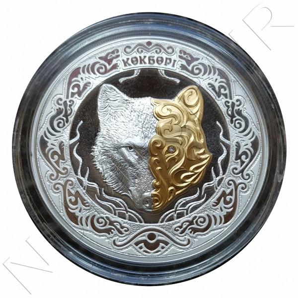 100 tenge KAZAKHSTAN 2018 - Kokbori (Blue wolf)