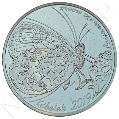 "100 tenge KAZAKHSTAN 2019 - Butterfly ""LASIOMMATA MAERA"""
