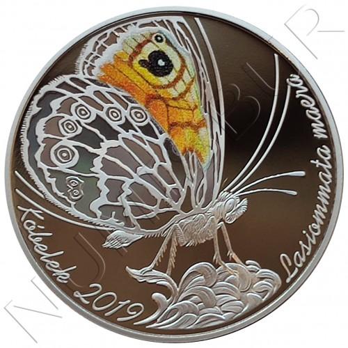 "200 tenge KAZAKHSTAN 2019 - Butterfly ""LASIOMMATA MAERA"""