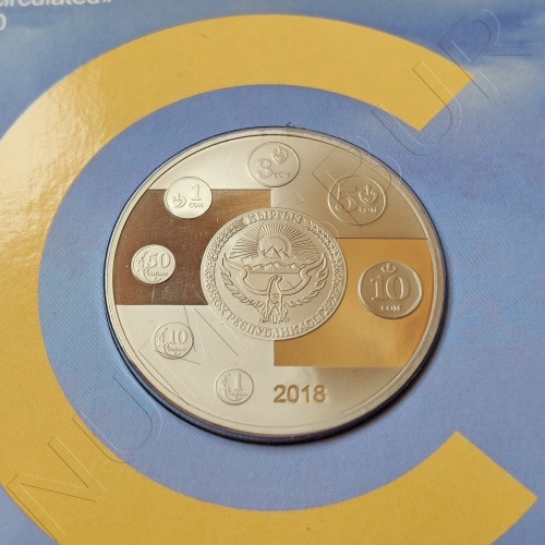 1 som  KYRGYZSTAN 2018 - 25 years of the national currency