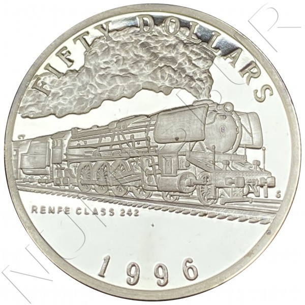 50$ MARSHALL ISLANDS 1996 - Renfe Class 242