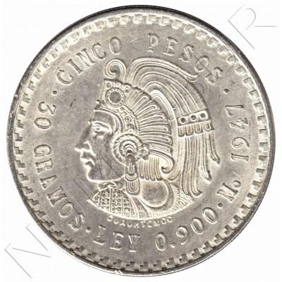 5 pesos MEXICO 1947 - 30 g silver .900mm