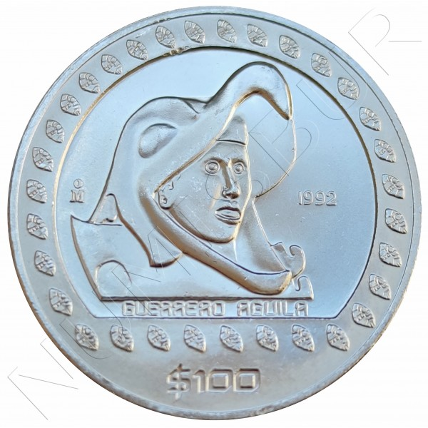 50 pesos MEXICO 1992 - Eagle Warrior