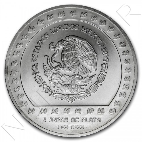 10000 pesos MEXICO 1992 - Piedra de Tizoc (5 OZ)