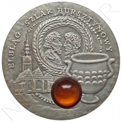 """1$ NIUE ISLANDS 2009 - Elbag """"Amber"""""""