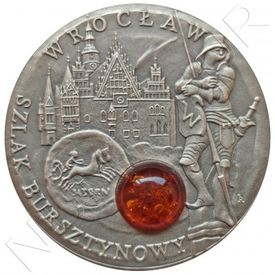 "1$ NIUE ISLANDS 2009 - Wroclaw ""Amber"""