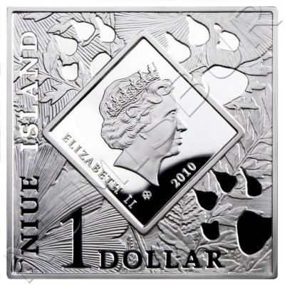 1$ NIUE ISLANDS 2010 - Antilocapra americana