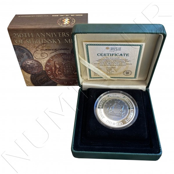 1$ NIUE ISLANDS 2013 - 250 aniv. of Suzunksy Mint