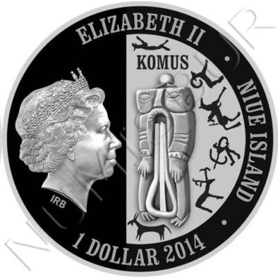 1$ NIUE ISLANDS 2014 - Panthera Uncia